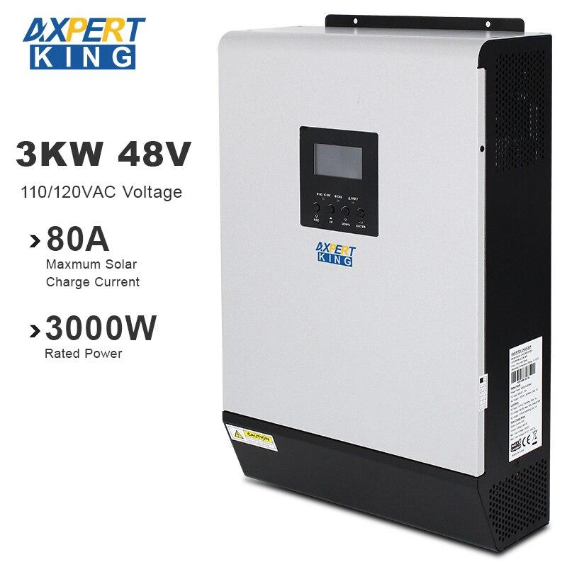 110V 120V 3000W солнечный инвертор с pwm 48V 80A со слежением за максимальной точкой мощности AC Батарея Зарядное устройство Чистая синусоида выход за п...