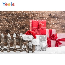 Yeele Christmas Gifts Photocall Bokeh Snow Fence Hat Photography Backdrop Personalized Photographic Backgrounds For Photo Studio
