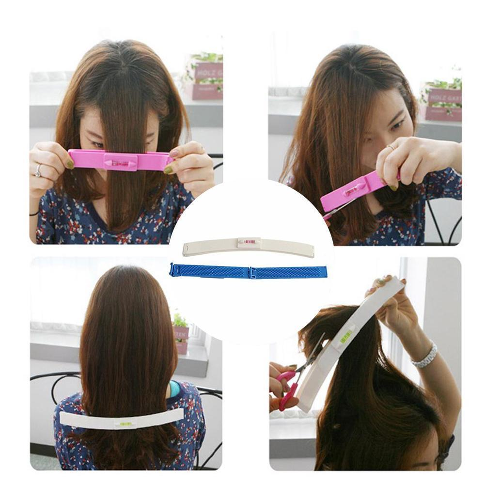 2 Colors DIY New Women Hair Trimmer Fringe Cut Tool Hair Clipper Level For Cute Comb Bang Hair Accessories Guide Clips Rule Q5B6