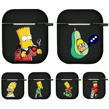 Funny Homer J Simpson and Bart Earphone Charging Box Case  1