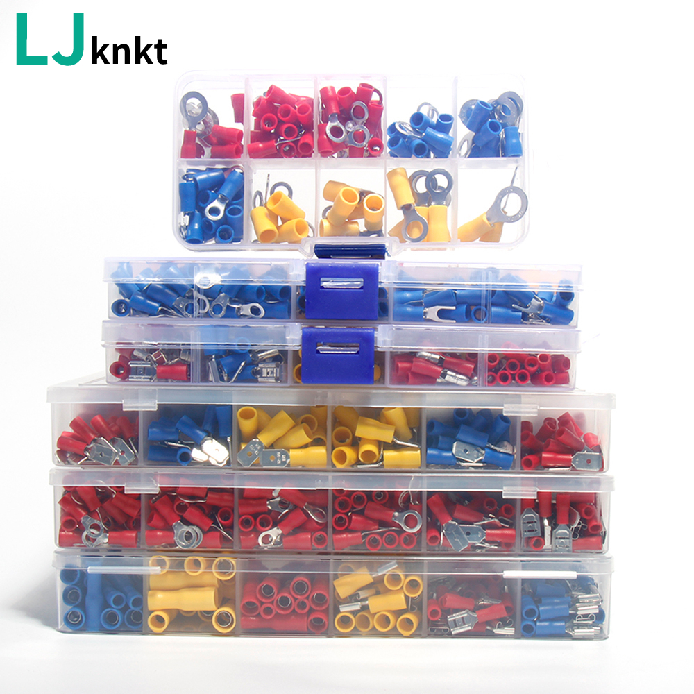 Terminals-Connectors-Kit Cable-Wire Spade-Ring Lug Car-Accessories U-Type-Set Insulated-Fork