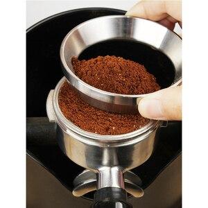 Image 5 - 51/53/57.5/58/58.35 Mm Rvs Intelligente Doseren Ring Brouwen Kom Koffie Poeder Voor Espresso Barista Trechter Filterhouder