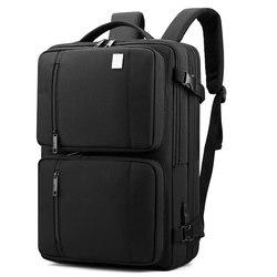 Bolsa de viaje para hombre resistente al agua, mochilas para ordenador portátil de 18 pulgadas, Mochila multifuncional con USB, Mochila de gran capacidad, mochilas para hombre