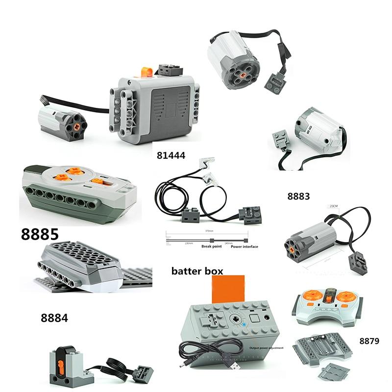 Compatible Legoinglys Technic Train Motor Remote Receiver LED Light Battery Box Power Functions Technic Power Functions Blocks