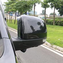 ABS Chrome Carbon Fiber Car Rear View Side Mirror Cover Case Shell Trim for Jeep Grand Cherokee 2014 2015 2016 2017 2018 2019