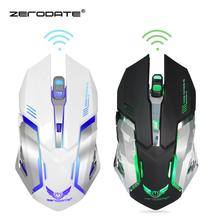 ZERODATE 2 4GHz Wireless Gaming Mouse 6 Buttons 2400DPI Ergonomics Optical Mouse 7 Colors LED Game