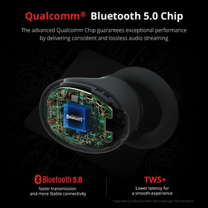 Image 3 - 1 יותר E1026 TWS אוזניות אלחוטי אוזניות Bluetooth 5.0 תמיכה aptX ו AAC HD Bluetooth תואם IOS אנדרואיד Xiaomi טלפון