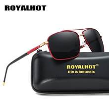 RoyalHot Men Women Retro Polarized Alloy Square Frame Sunglasses  Driving Sun Glasses Shades Oculos masculino Male 900130