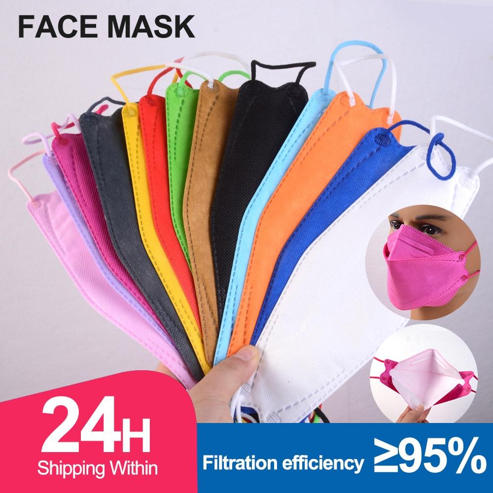 ffp2mask ce colores mascarillas ffp2reutilizable Protective Fish KN95 Face Mask Adult Filter mascherine ffpp2 mascarillas fpp2