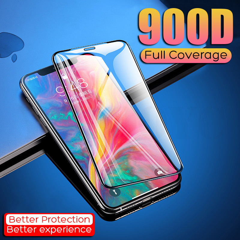 900D Full Cover Protective Tempered Glass For iPhone 11 Pro XS MAX XR X Glass On For iPhone 7 8 6 6S Plus Screen Protector Glass image