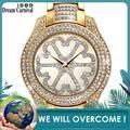 Dreamcarnival 1989 Новое поступление кварцевые часы для женщин Blink Crystal Shinning роскошный подарок большие часы из саудовской Дубаи Лидер продаж A8266