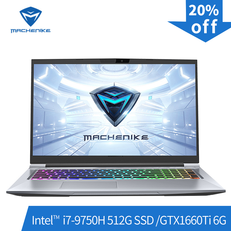 Machenike T90-PLus gaming laptops (Intel i7-9750H + GTX1660Ti 6G/8GB de RAM/512G SSD/17.3 ''144Hz) игровой ноутбук notebook