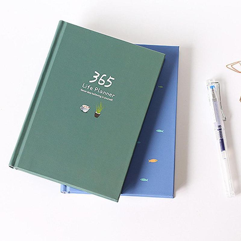 1pc caderno 365 plano de programação este ano agenda cor página interna ilustração plano diário diário registro vida estudante papelaria