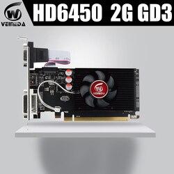 Видеокарты Veineda HD6450 2 ГБ DDR3 HDMI графическая видеокарта High-end игровая видеокарта HD6450