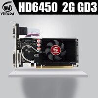 Veineda Графика карты HD6450 2 Гб DDR3 HDMI графическая видеокарта High-end Game Графика карты HD6450