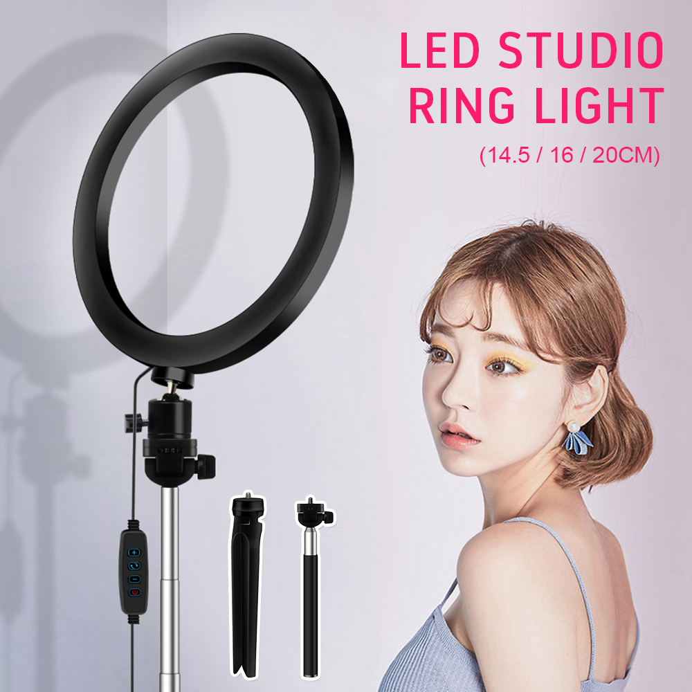 Live ring LED fill light artifact  multi-camera photography photo fill light with mobile phone holder Bluetooth remote control
