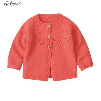 ARLONEET ubrania dla dzieci chłopcy dziewczęta Cardigan szydełka sweter 2020 ciepłe wiosna jesień z długim rękawem dzianiny sweter płaszcz tanie i dobre opinie Nowość COTTON Poliester Pełna REGULAR Pasuje prawda na wymiar weź swój normalny rozmiar embroidery 1PC Sweater Otwórz Stitch