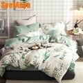 Svetanya/хлопковые комплекты постельного белья 4 в 1 (наволочка с плоским простынем и пододеяльник)