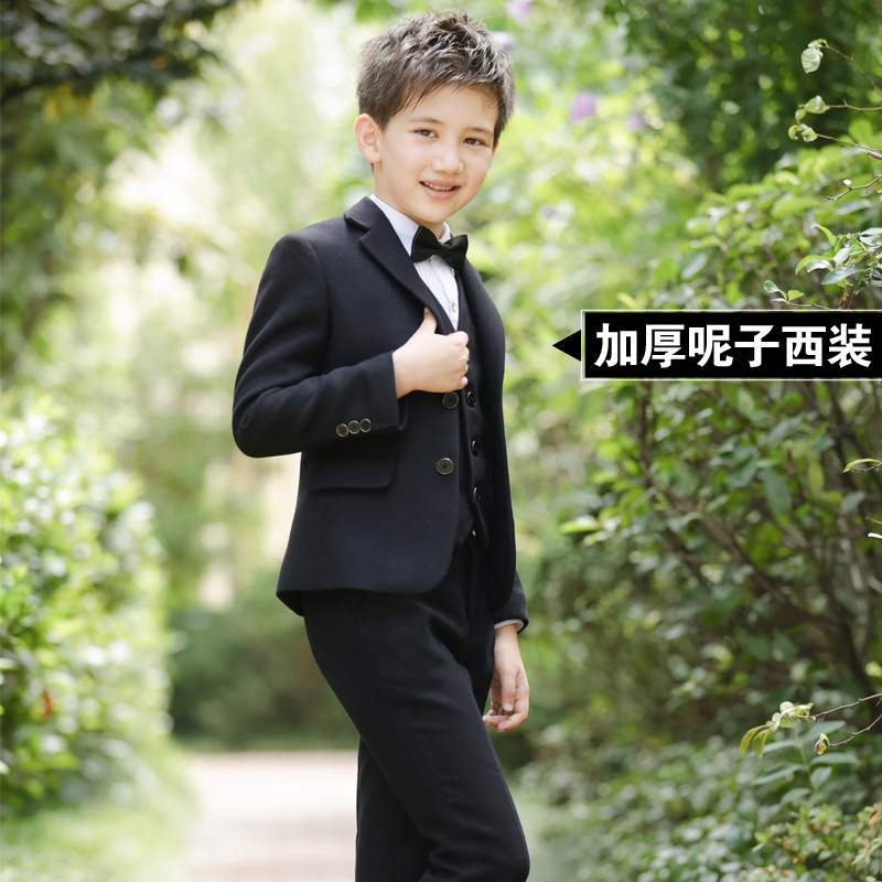 Boys Blazers Suit Kids Boy Suits For Weddings Jacket+Blouse+Tie+Pants 4 Pieces/set Children Costume Garcon Marriage Clothes