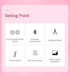 Image 5 - Trípode inalámbrico con Bluetooth para palo de Selfie, anillo de luz LED, monopié de mano plegable, obturador remoto, para iPhone 11 y Huawei