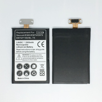 BL-T5 Replacement Nexus4 Battery For LG Nexus 4 Battery E975 E973 E960 F180 LS970 Optimus G E970 Battery BLT5 BL T5 new 4600mah bl 48th bl 47th battery for lg optimus g pro f240 k e980 e988 e940 f310 d684 f240s f240l d838 pro 2 battery