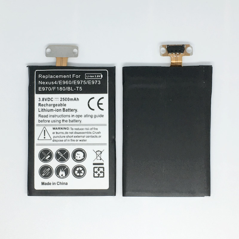BL-T5 Replacement Nexus4 <font><b>Battery</b></font> For <font><b>LG</b></font> Nexus <font><b>4</b></font> <font><b>Battery</b></font> E975 E973 E960 F180 LS970 Optimus G E970 <font><b>Battery</b></font> BLT5 BL T5 image