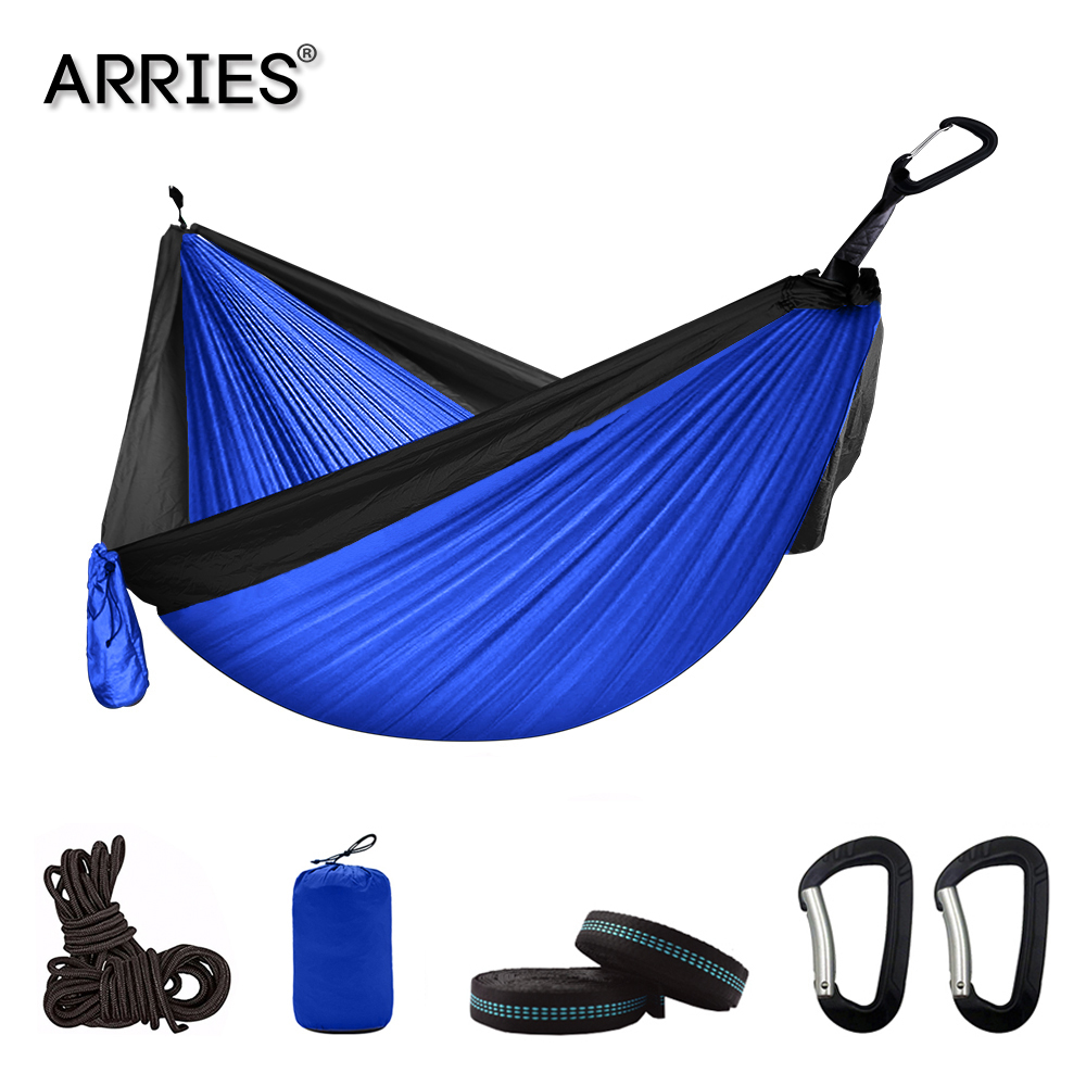 300*200 Double Hammock Outdoor Camping Parachute hammock Backpack Travel Survival Hunting Sleeping Portable Hanging garden Bed(China)