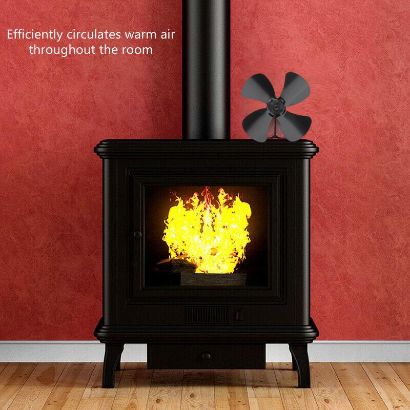 Multiple Color Aluminum Alloy 4/5 Blade Heat Powered Stove Fan Blade Home Komin Log Wood Burner Eco Quiet Fan Blade Replacement