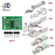 HX711 AD modülü ağırlık sensörü 1kg 2kg 3kg 5kg 10kg 100g yük hücresi modülü tartı basınç sensörü ölçüm araçları