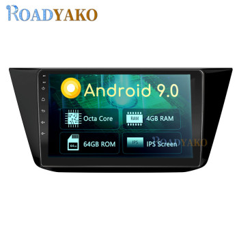 10.1'' Android Auto Car Radio Navigation GPS Video player For Volkswagen Tiguan 2016-2019 Stereo Autoradio Car Harness 2 Din image