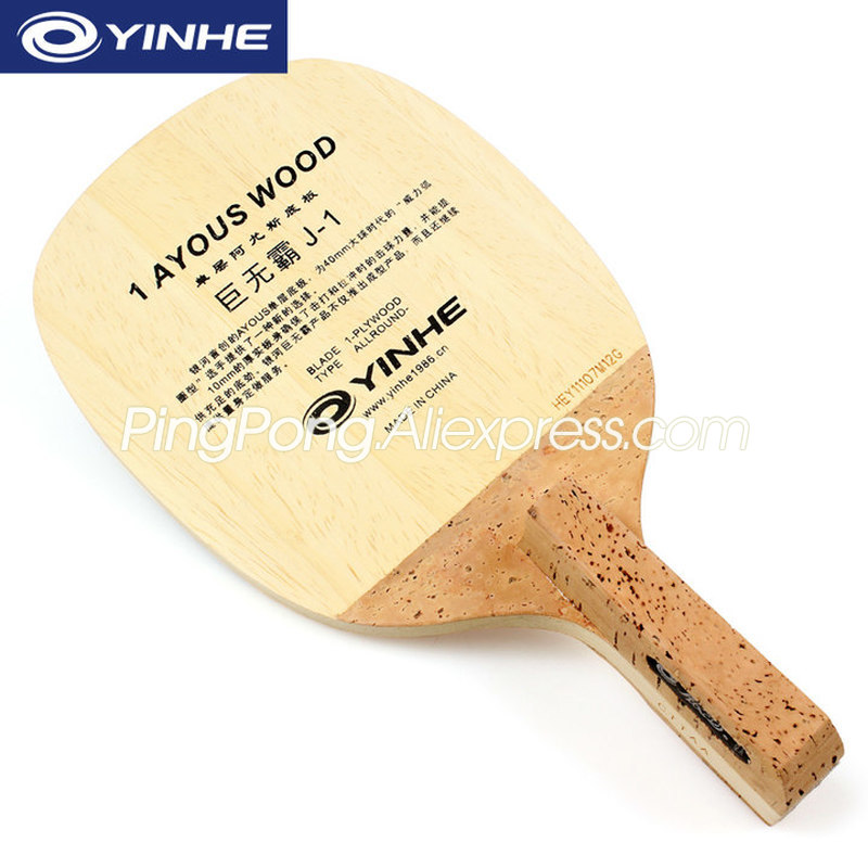 YINHE J-1 (1 Ply Ayous) Table Tennis Blade Solid AYOUS Japanese Penhold Racket JS Original YINHE J1 Ping Pong Bat / Paddle