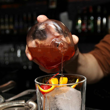 Mode Schädel Wein Flasche Kreative Kristall Kappe Whisky Flasche Persönlichkeit Cocktail Glas Bar Utensil Doppel Wärme-beständig Glas