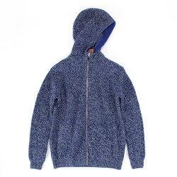 100% козья кашемировая пряжа, вязаный мужской кардиган на молнии, свитер с капюшоном, пальто, S-2XL