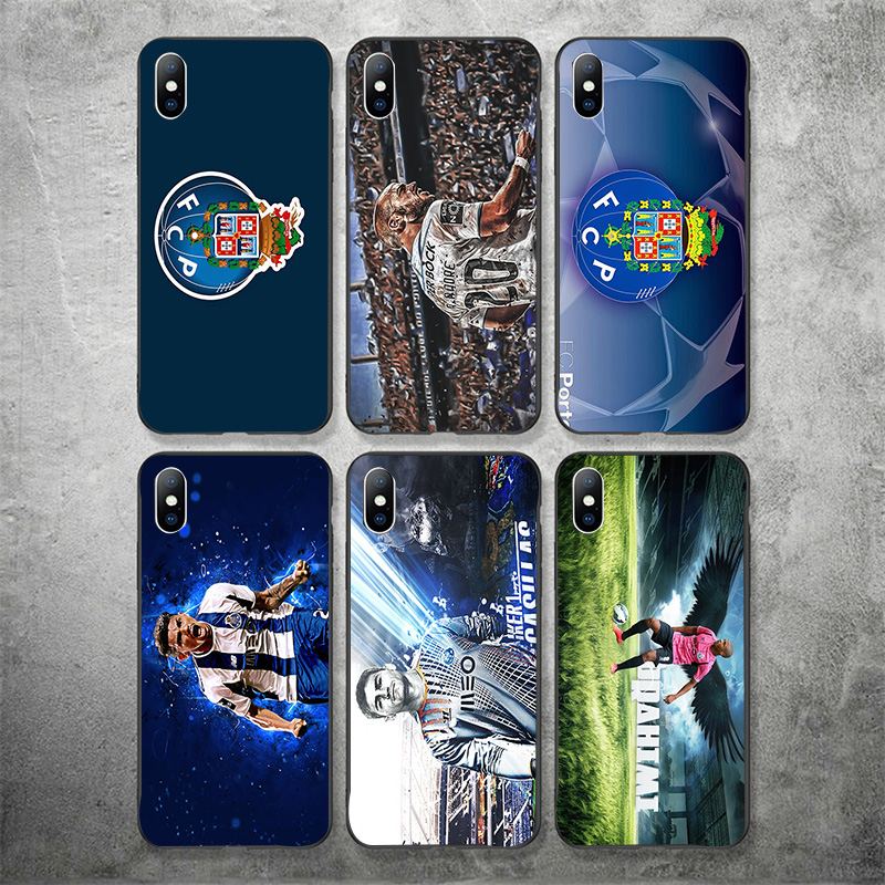Yinuoda Phone Case For FC Porto IPhone Shell DIY Picture Black Soft TPU Cover For Proto FC X XR XS MAX 7 8 7plus 6 6S 5S 5