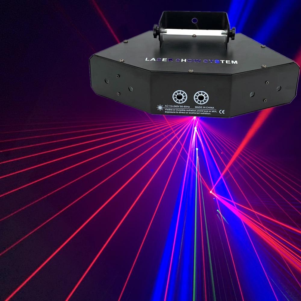 RGB Laser Image Lines Beam Scans DMX DJ Dance Bar Coffee Xmas Home Party Disco Effect Lighting Light System Show
