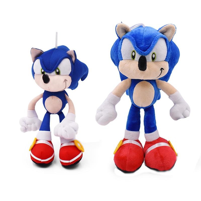 20-28CM Sonic Plush Toys Doll Blue Shadow Sonic Plush Soft Stuffed Toy Plush For Children Birthday Gifts Cotton
