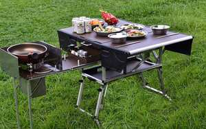 Gas-Stove Desk C650 Bulin Mobile Kitchen Camping Cookware-Set Folding Picnic Hiking Outdoor