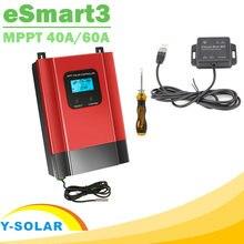 Esmar3 mppt controlador de carga solar, 60a 40a 12v 24v 36v 48v auto max 150v pv luz de fundo lcd rs485 wifi controle móvel