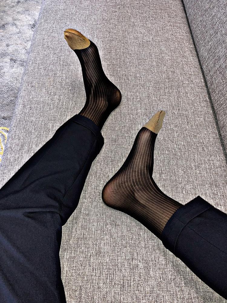 Tube Socks Dress Socks Gifts For Men Sheer Socks Exotic Formal Wear Socks Men Sexy Fasion Transparent Business TNT Dress Socks