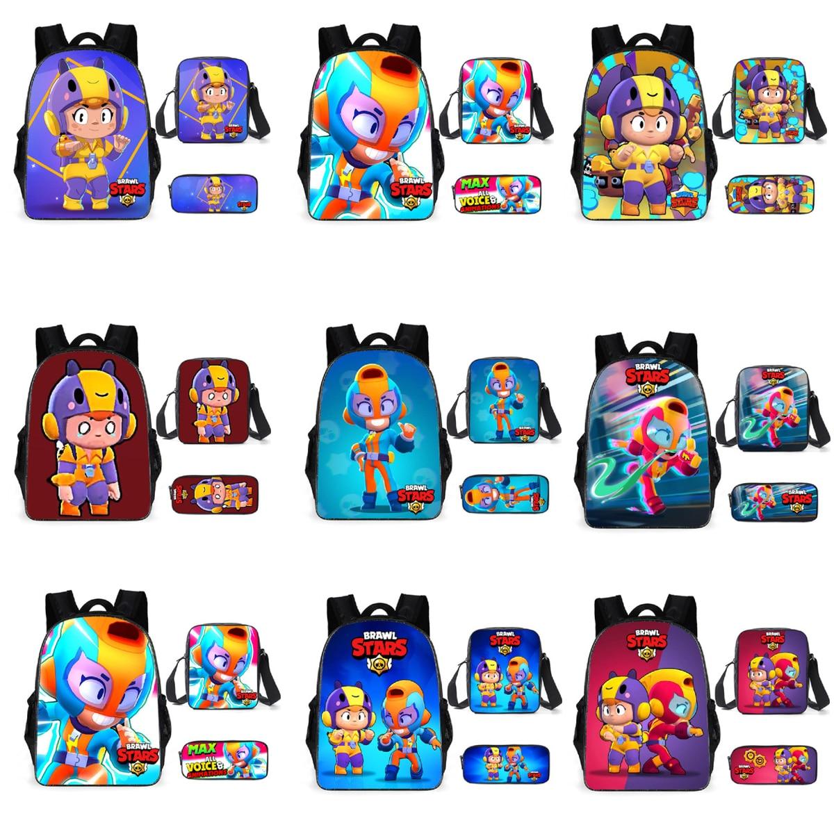 Bagarres dessin animé sacs d'école étoile garçon Action dessin animé Spike Shelly Leon PRIMO MORTI cartable pour adolescents étudiant livre sac jouets