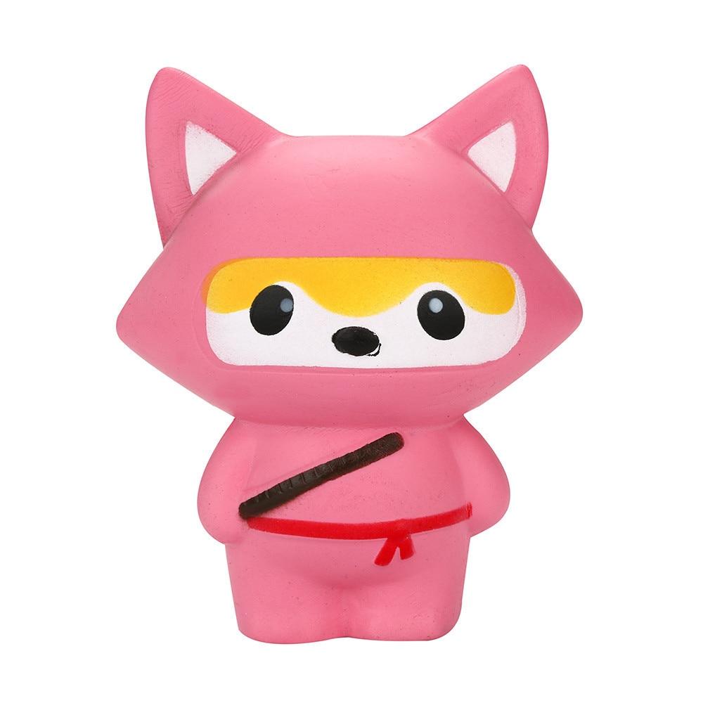 2Pcs Stress Reliever Ninja Panda&Ninja Fox Slow Rising Squeeze Toy Simulation Of Slow Rebound Decompression Toy Birthday Gift #B
