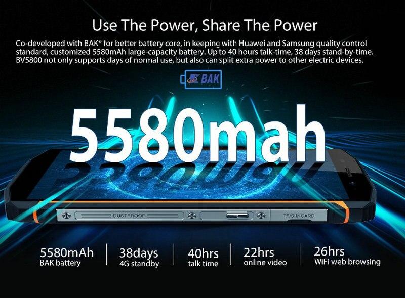 Bateria starveitu para blackview bv5800 5580mah bateria