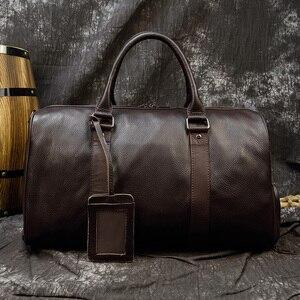 Image 4 - MAHEU ร้อนของแท้หนังผู้ชายผู้หญิงเดินทางกระเป๋าหนังแท้ Cowhide พกพากระเป๋าเดินทางกระเป๋าเดินทางกระเป๋าสะพายชายหญิง