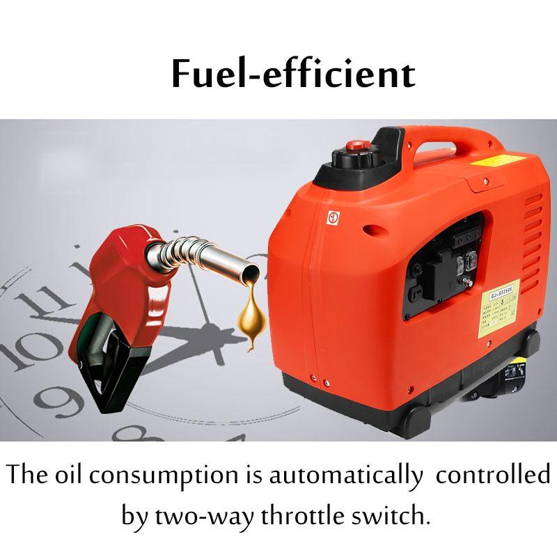 3500 Вт Цифровой бензиновый генератор инвертора 3.5KW бензин немодулированной синусоидальной волны бензиновый генератор на открытом воздухе полномочия поставить аккумулирования энергии