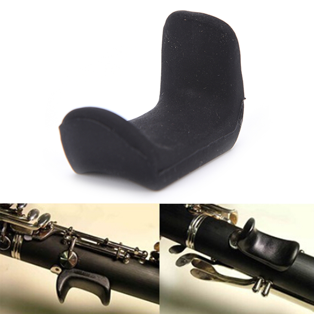 Adjustable Black Oboe Clarinet Thumb Finger Rest Ergonomic Clarinet Oboe Accessories High Quality