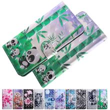 Phone-Case Wallet Animal LG for Q6 Q7 Q-Stylo Flower Cute Panda-Wolf Lace Painted O29G