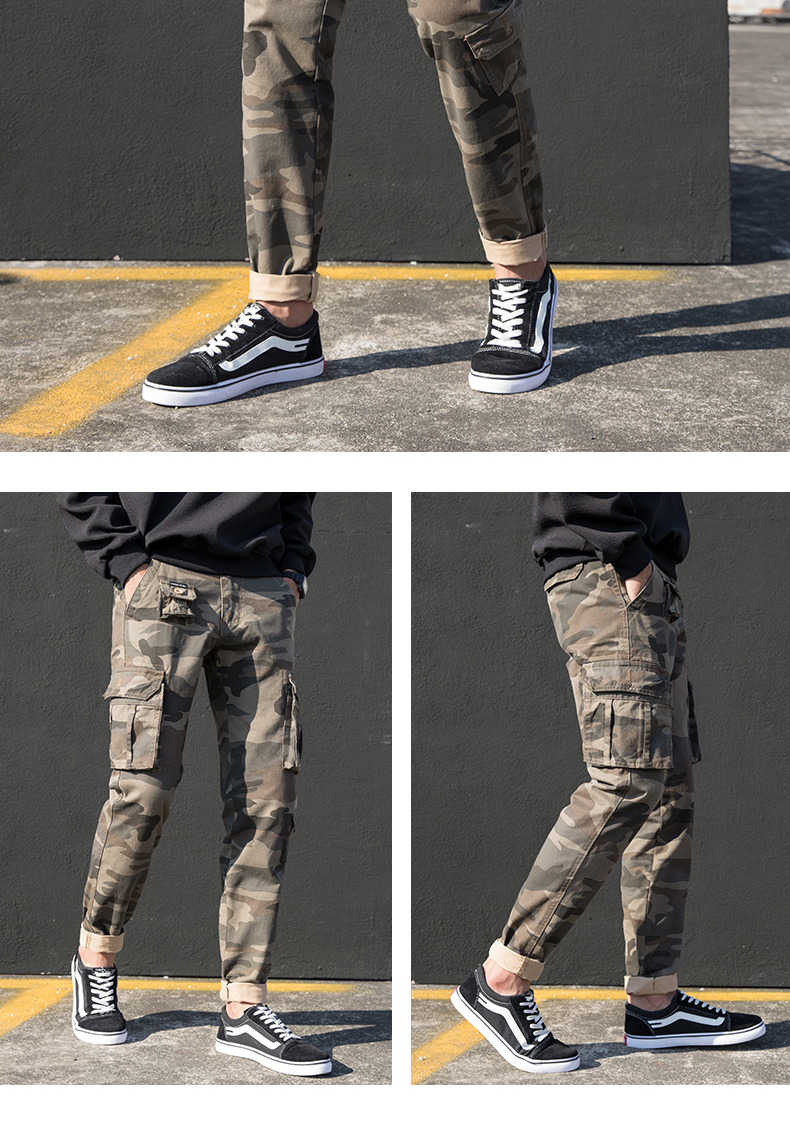 KSTUN Cargo Pants Men Straight Cut 100% Cotton Overalls Casual Pants Men Multi Pockets Camouflage Full Length Trousers Top Quality 15