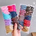 100pc/50pc Mädchen Scrunchies Elastische Haar Band 3,5 CM Haar Krawatte Baby Haar Ring Seil Headwear Kinder haar Zubehör für Mädchen