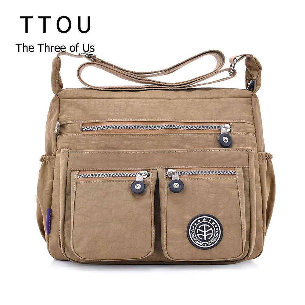 TTOU Women Casual Messenger Bags Waterproof Nylon Handbag Female Daily Shoulder Bag Ladies Crossbody Bags Bolsa Sac A Main