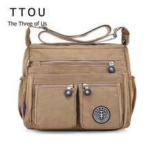 TTOU Женские повседневные сумки-мессенджеры водонепроницаемые нейлоновые сумки женские повседневные сумки через плечо женские сумки через плечо